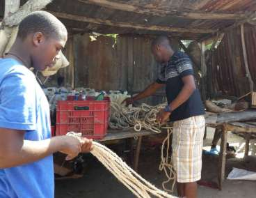 Jhanson purchasing rope in the market