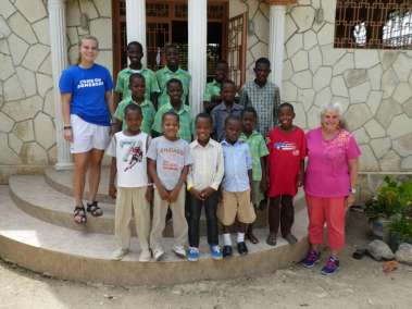 Grace and Pastor Carol with the children