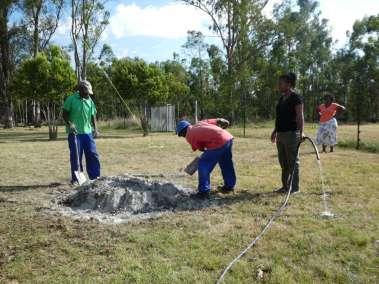 Preparing the concrete