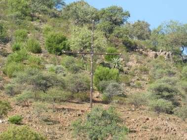 Village Cross with solar lights
