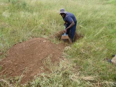Preparing the hole in a field