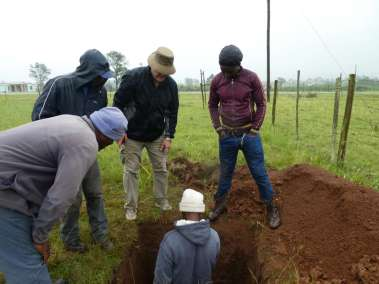 Measuring depth of hole
