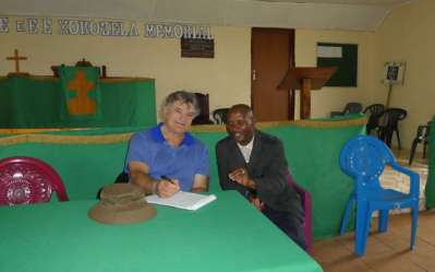 Interviewing Reverend Motebele