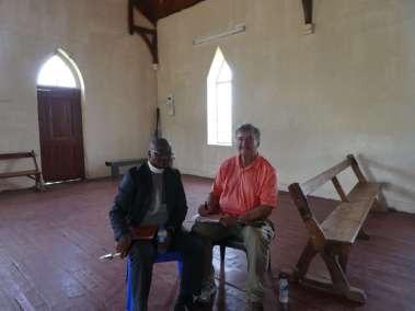 Pastor Bill interviewing Reverend Makoko