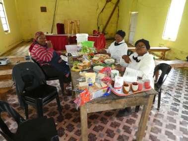 Ladies preparing lunch