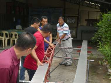 Disassembling Cross to place in bus