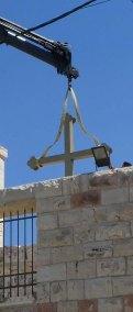 Setting Cross on roof