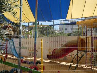 Childrens protected playground