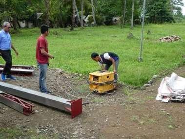Firing up the portable generator