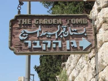 Garden Tomb entrance gate