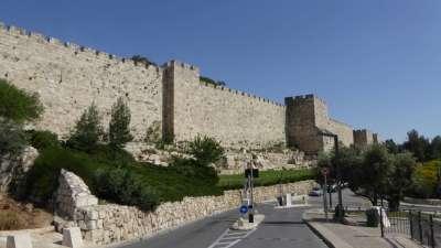 Old Jerusalem City Walls or Ramparts