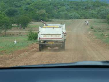 Following Truck to Remote Church Site