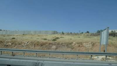 We Are On The Palestine side Of The Wall In Israel