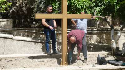 Drilling For Planting The Cross