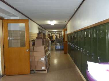 Donated Goods Over Flow Into Hallway
