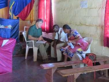 Pastor Bill interviewing Pastors Majomeka and Jamaica Misheck