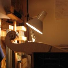 Schnecke schnitzen für Stadlmann-Nachbau/ carving the scroll for a Stadlmann-copy