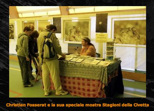 "Exposition ""La chouette chevêche"" au Festival dei Gufi à Bergamo"