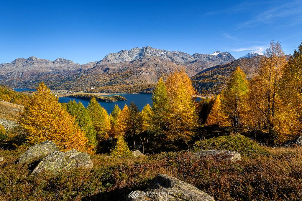 Wunderschöne Herbstfarben rund um den Silsersee