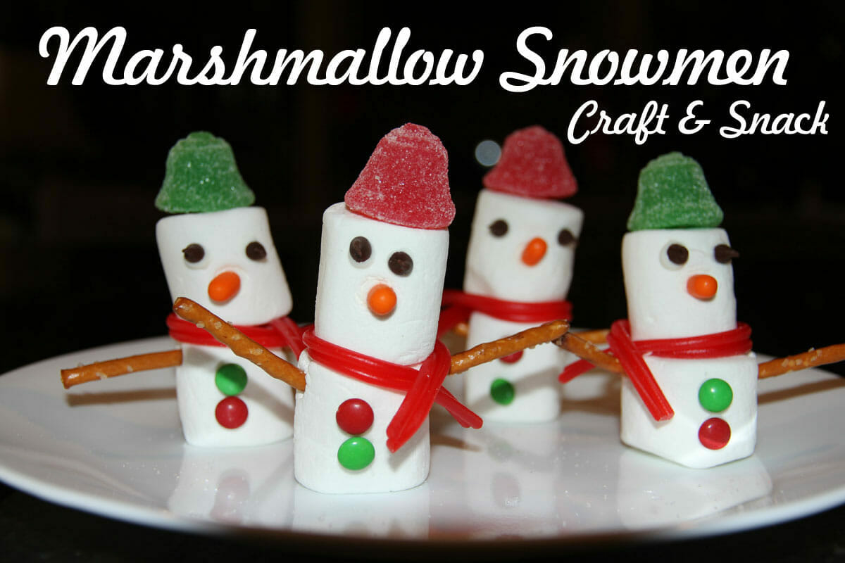 Bible Craft Amp Snack Marshmallow Snowmen