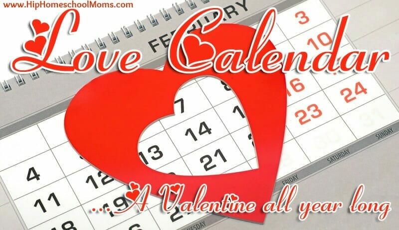 Love Calendar Valentines Day Craft