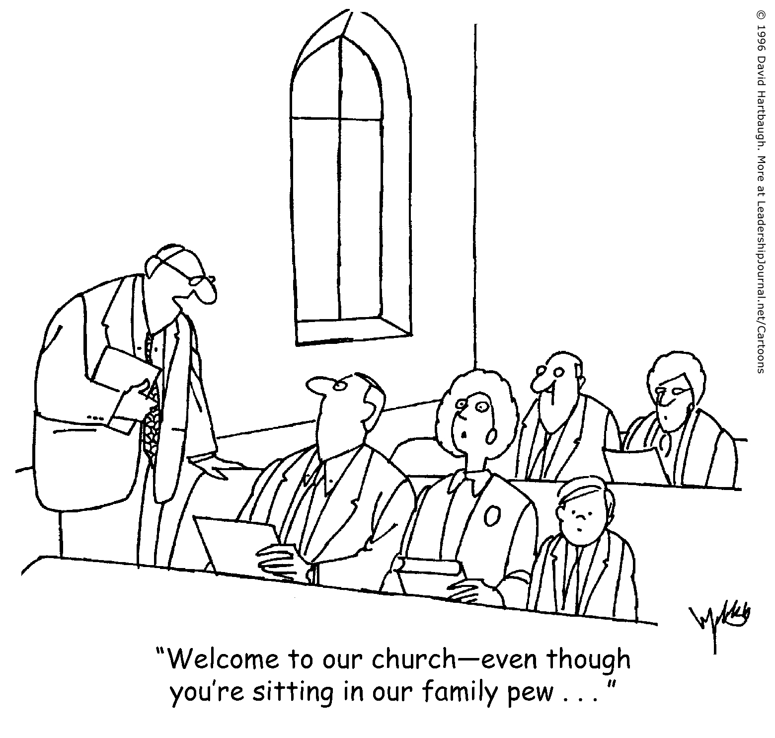 Image result for church newcomers cartoon