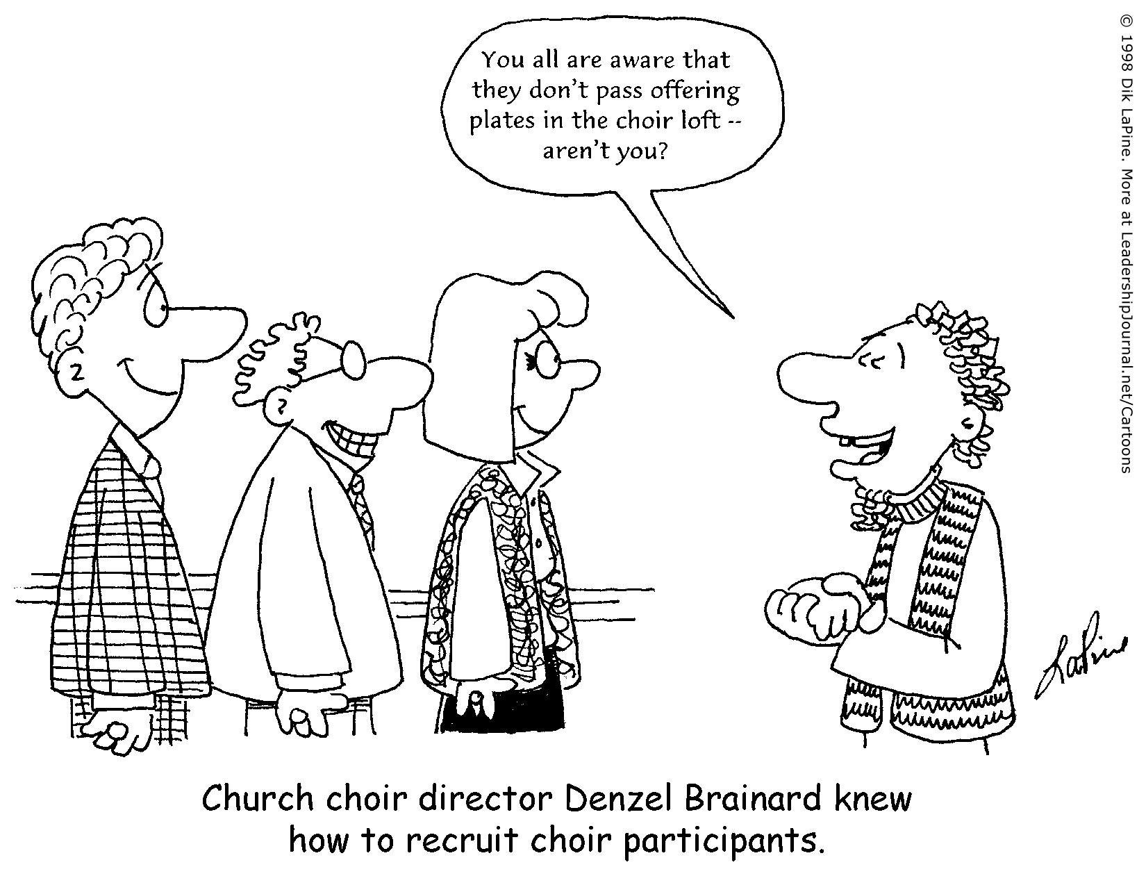 Bribing Church Choir Recruits