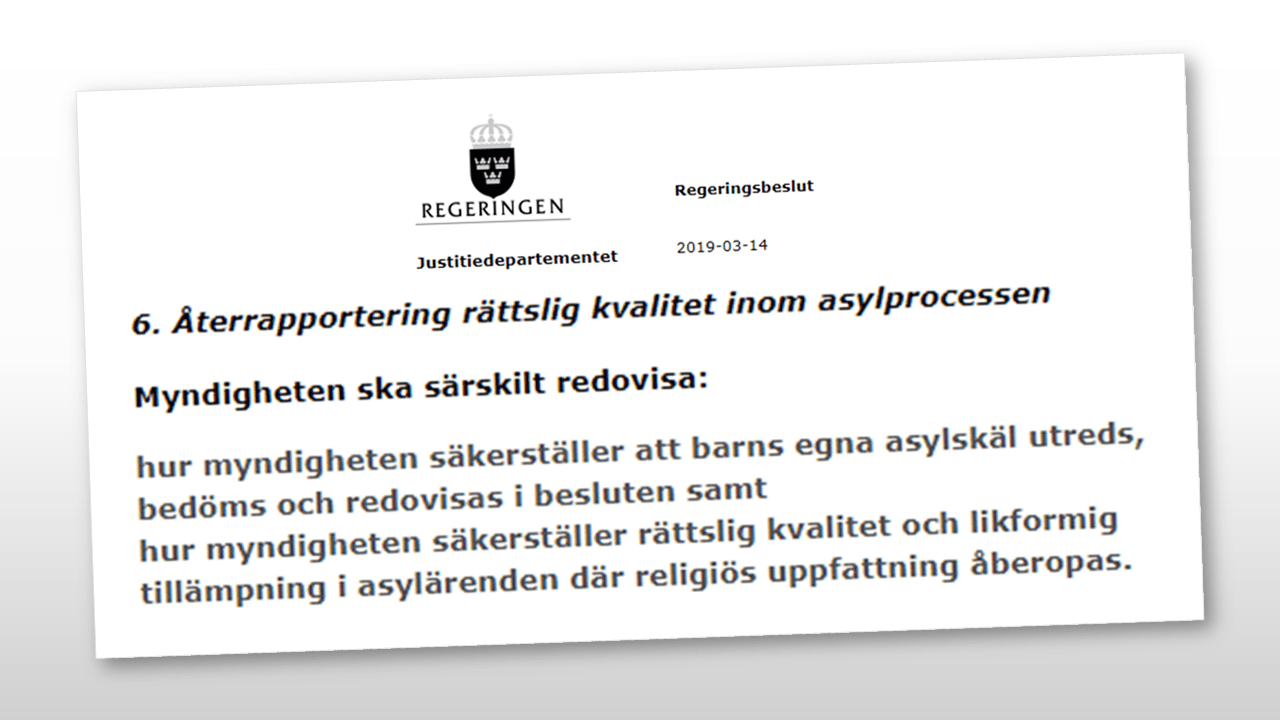 "Featured image for ""Granskning av Migrationsverkets svar på regeringens regleringsbrev"""