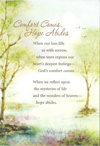 meaningful sympathy cards