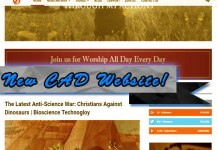 New Christians Against Dinosaurs Website