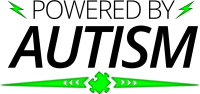 powered by autism green