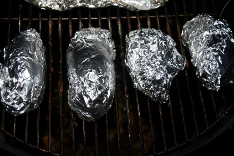 Gepofte zoete aardappel met PP - poffen