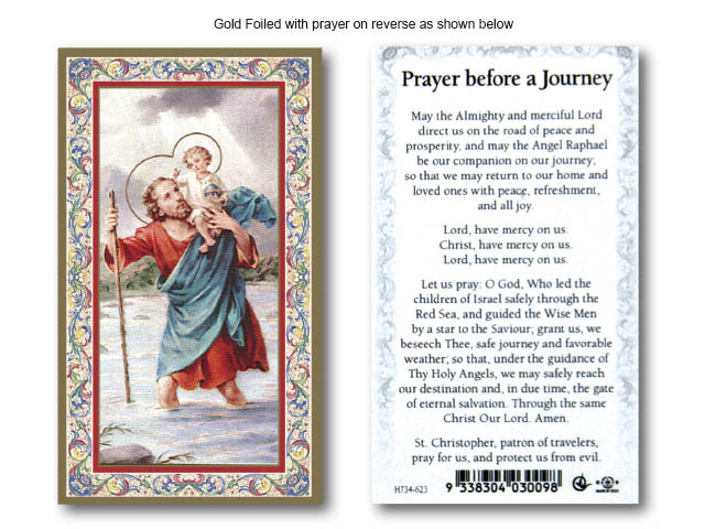 Holy Card Prayer Before A Journey Holy Cards General