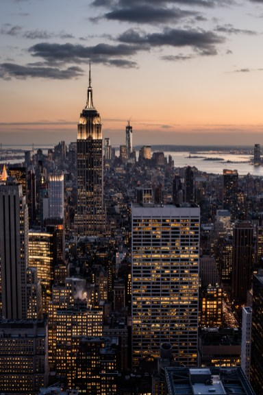Empire State Building at Dusk, New York City