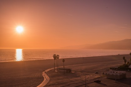 Santa Monica Beach Sunset - Los Angeles