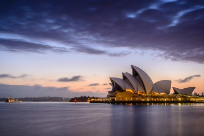 Australien Reisen: Sunset at Sydney Opera House, Sydney