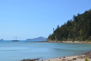 Whitsundays seascape from one of the many beaches around the area
