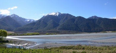 Braided River in New Zealand