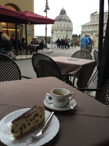 Pisa coffee and cheesecake