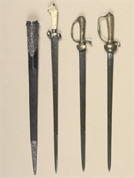An Ivory Hilted Hunting Sword Dutch Or German And Two