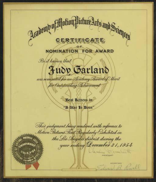 A Star Is Born 1954 Judy Garland Christie S