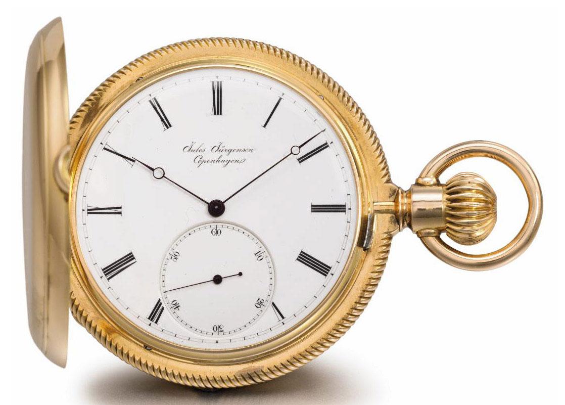 Jules Jurgensen A Fine 18k Pink Gold Hunter Case Keyless