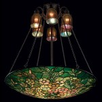 Tiffany Studios An Alamander Leaded Glass And Bronze Chandelier Circa 1910 1900s Table Lamp Christie S
