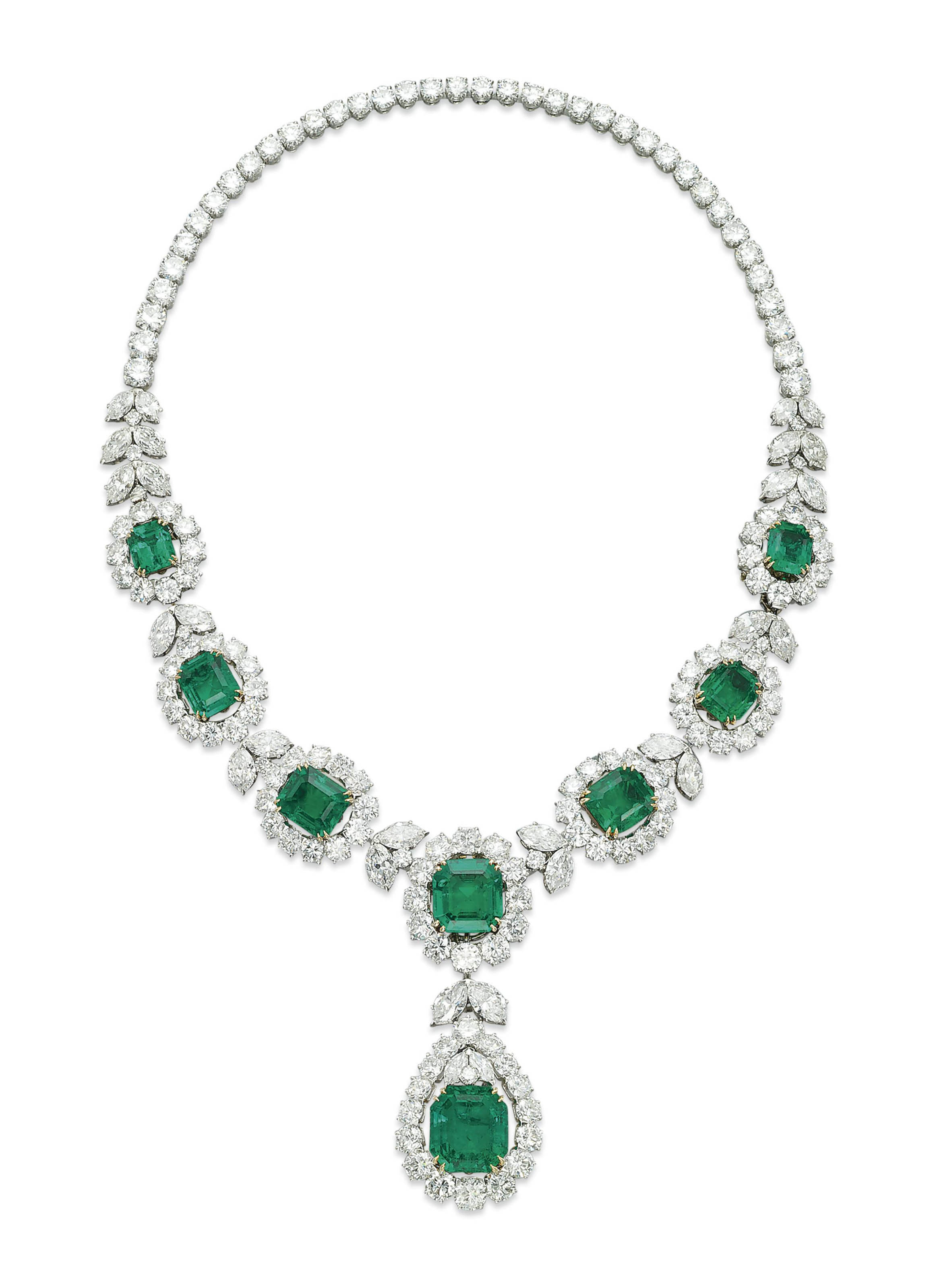 A Fine Emerald And Diamond Necklace By Van Cleef Amp Arpels