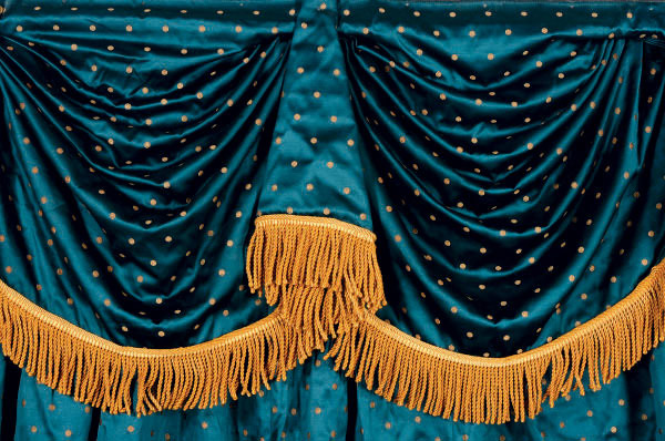 gold silk damask curtain panels