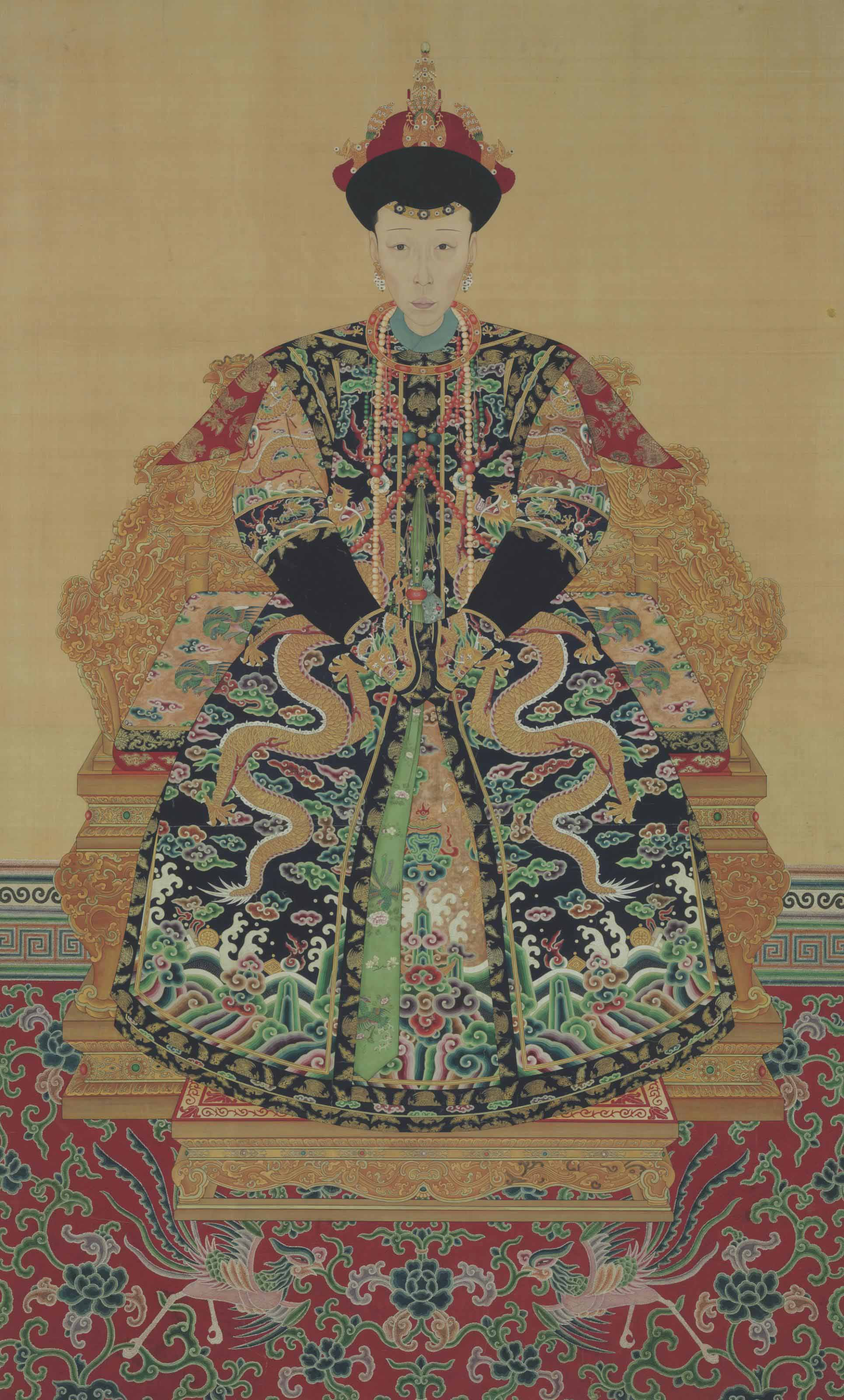 Anonymous Late Qing Dynasty Portrait Of A Royal Lady