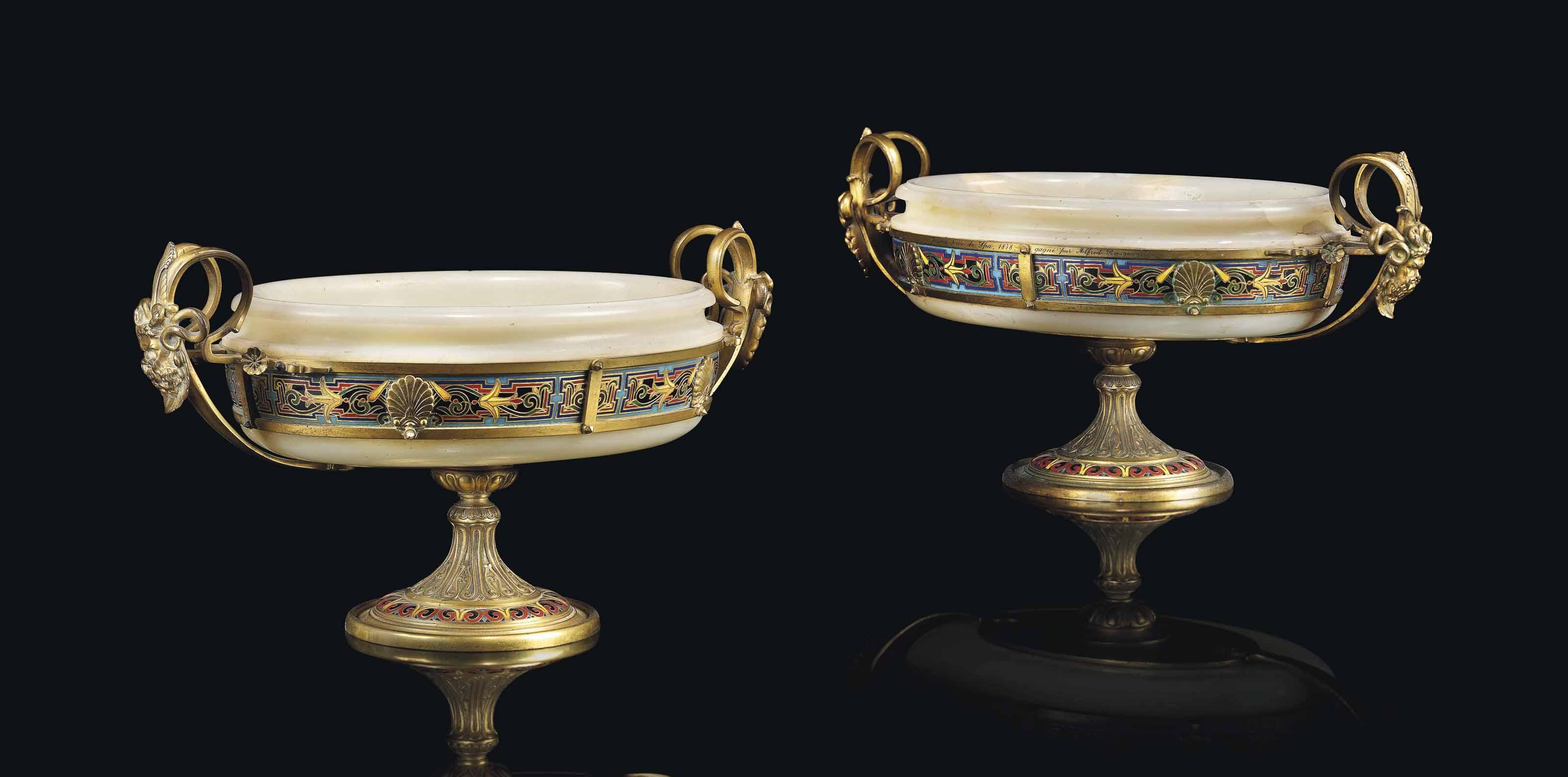A Pair Of Napoleon Iii Ormolu Mounted Cut Brass Inlaid