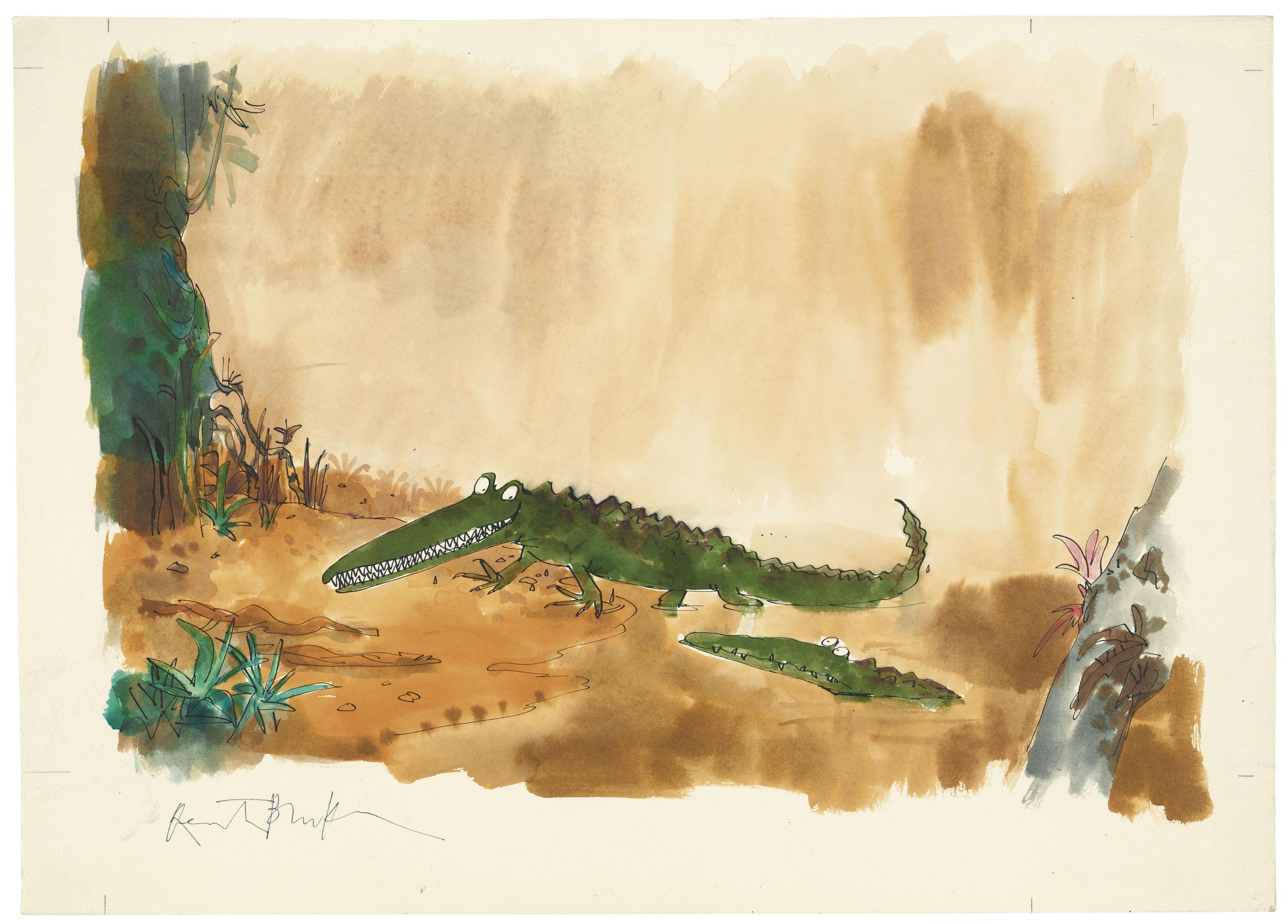 Quentin Blake B The Enormous Crocodile