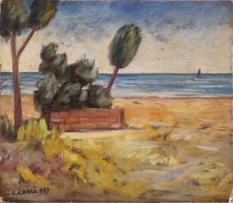 Carlo Carrà (1881-1966) Piccola marina