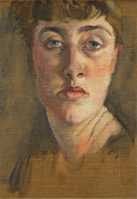 Felicia Browne, self-portrait